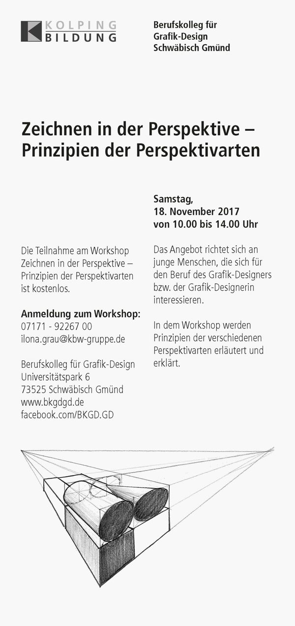 Workshop Zeichnen in der Perspektive